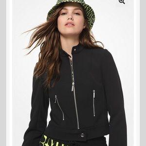 Michael Kors Twill Biker Jacket